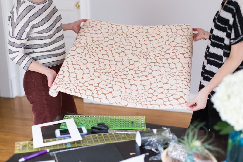 DIY wall paper projects centered by design