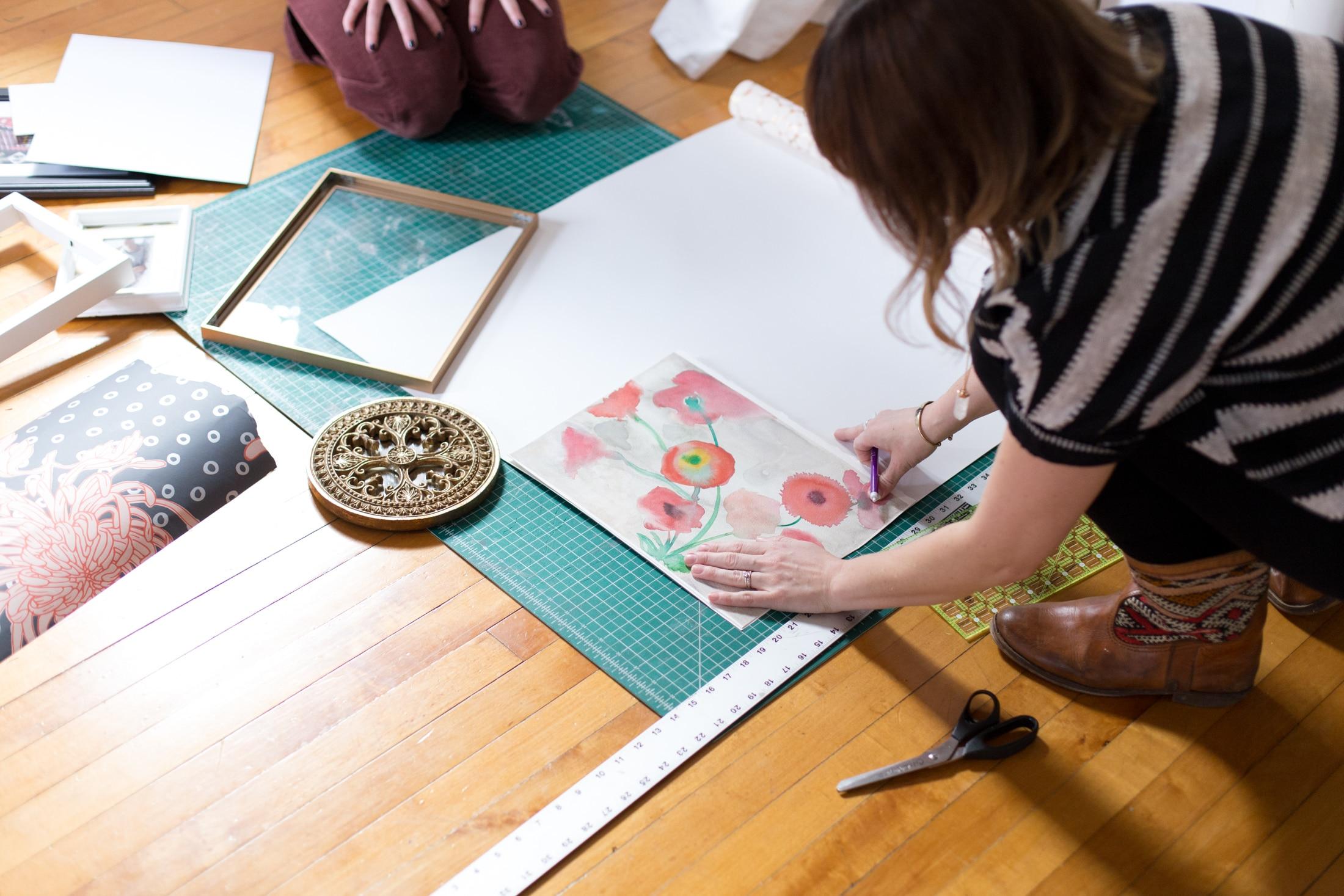 Art Projects Using Wallpaper