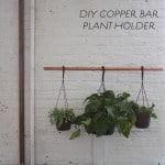 DIY copper bar plant holder