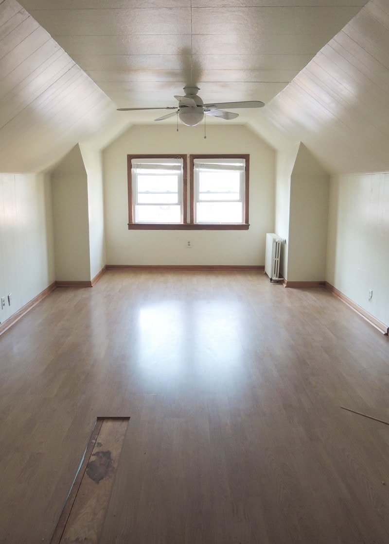 Other side of upstairs, this room is behind the french doors. Definitely calling for a window seat.