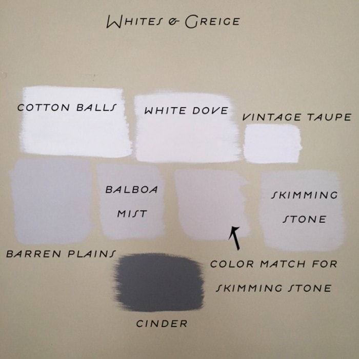 greige paint colors