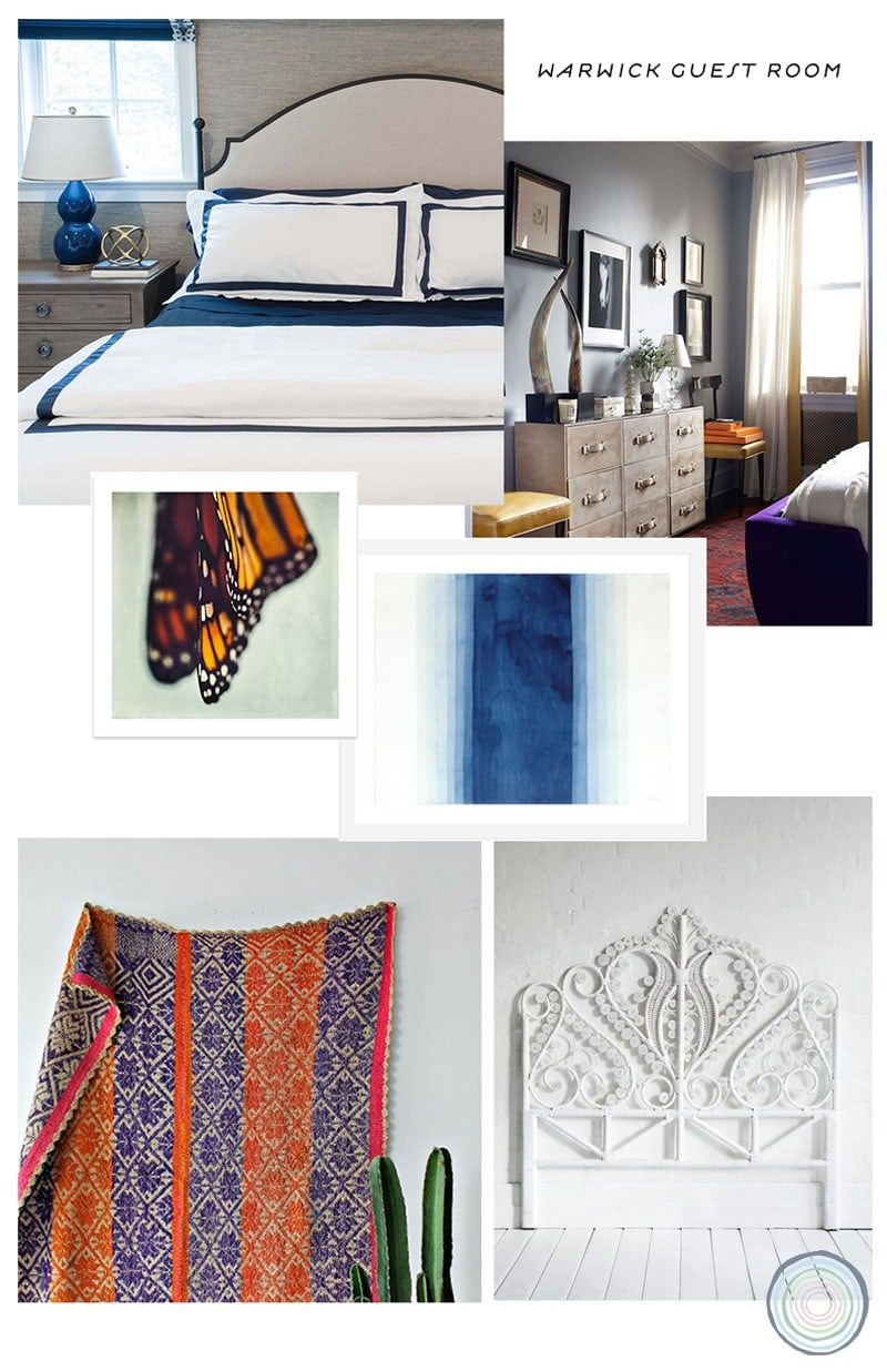 blue bedroom design board