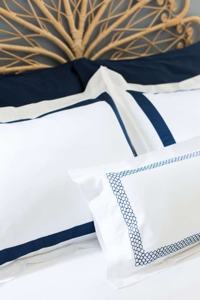 navy bedding boll and branch