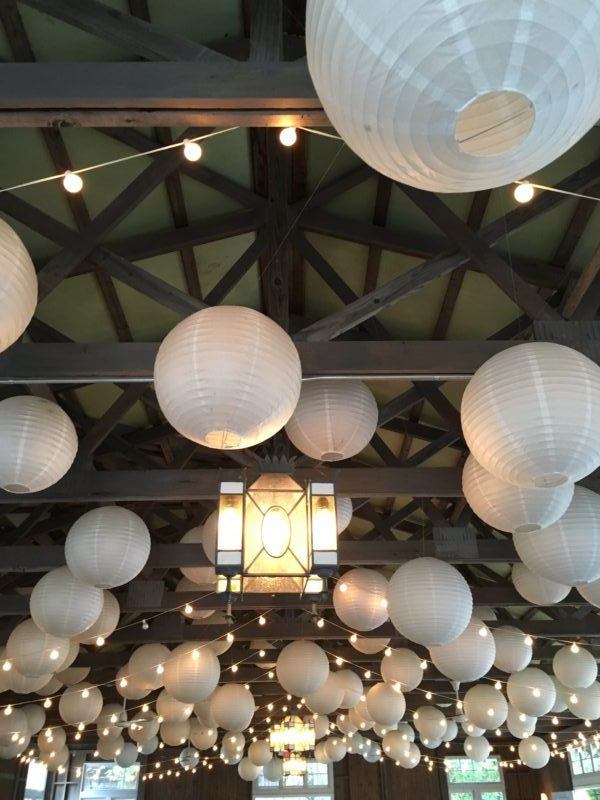 Picture perfect with paper lanterns included!