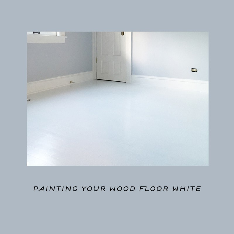 Painting The Floor White: Painting A Wood Floor White