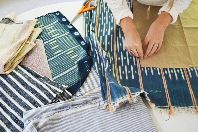 vintage pillow fabrics