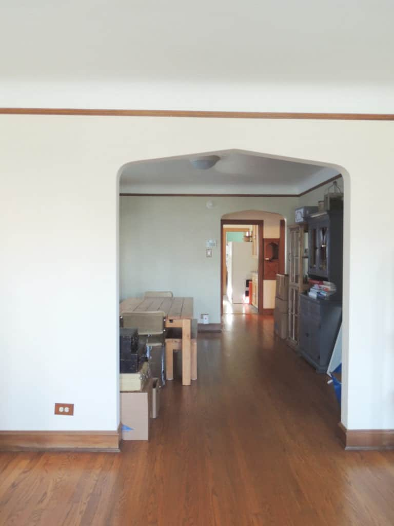 Before, looking towards dining room.