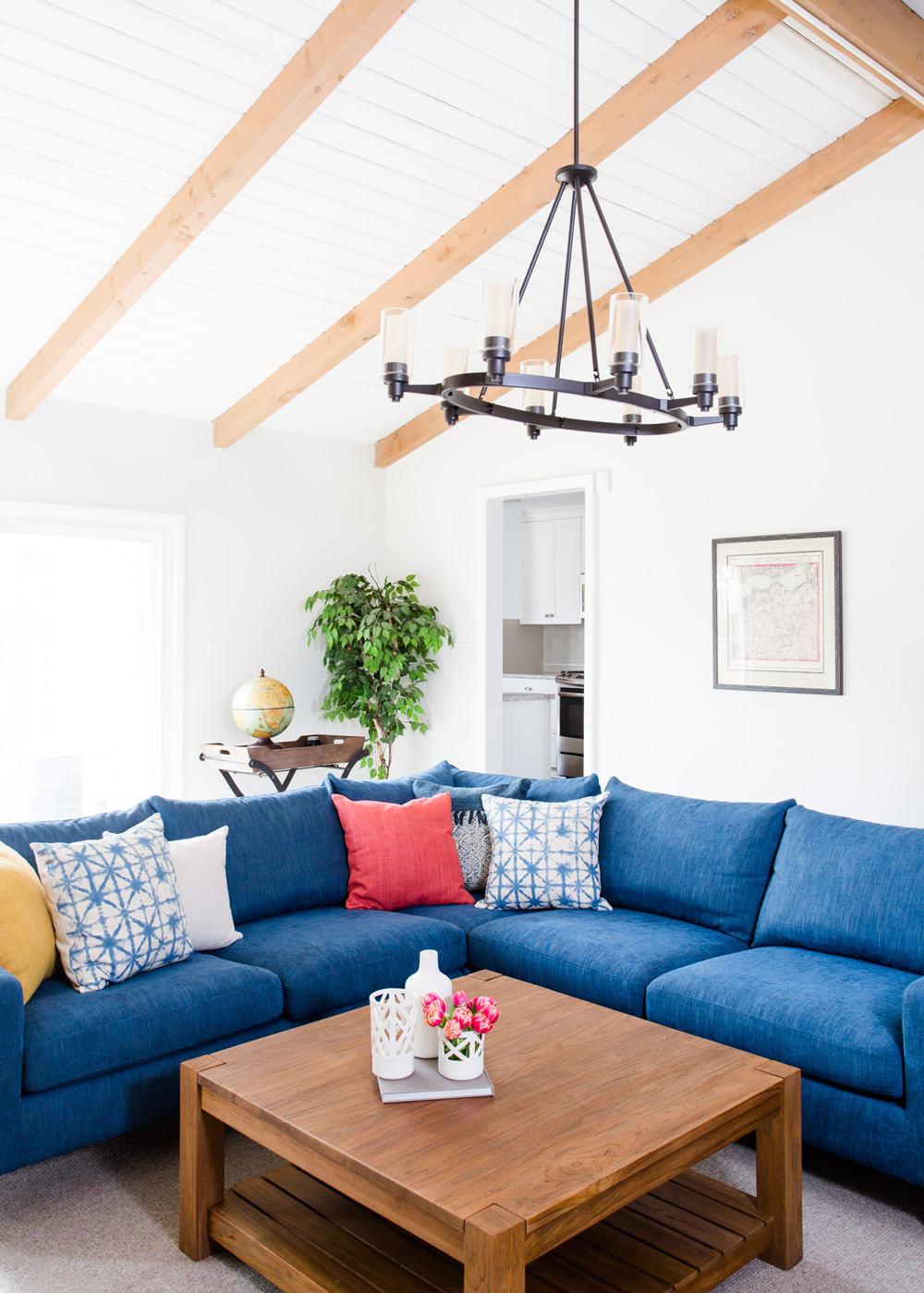 suburban-family-room-blue-sofa - Centered by Design