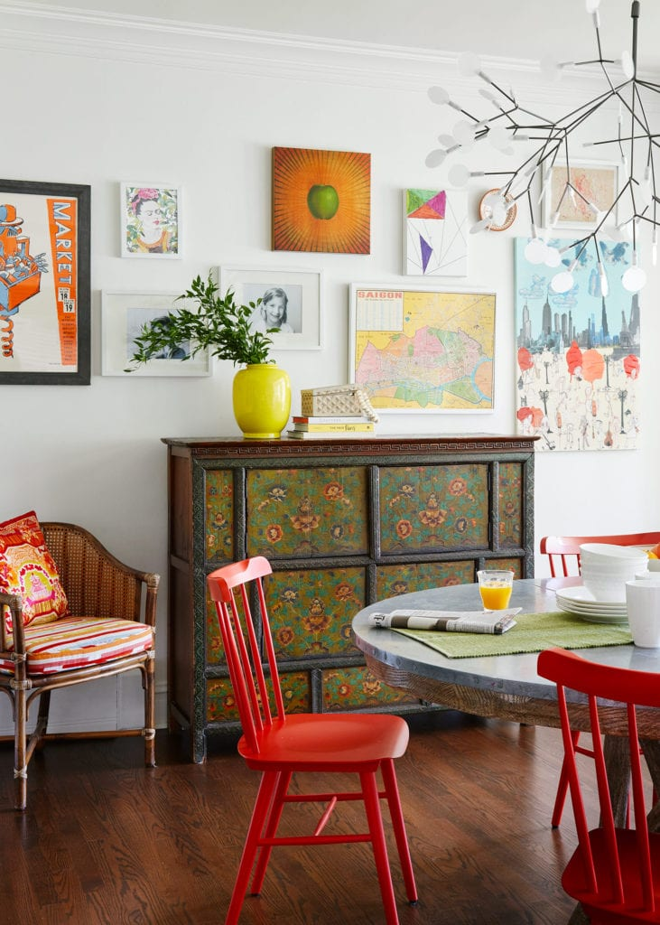 orange shaker style chair
