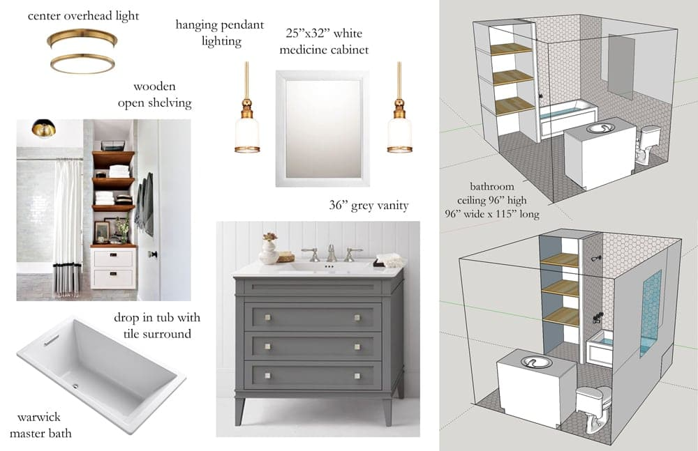 Bathroom Design Board design planing how to make the most of a small master bathroom