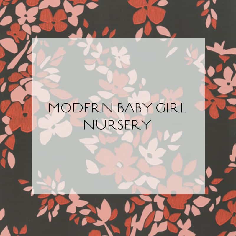 Modern Nursery Wallpaper: Modern-baby-girl-nursery-ideas-wallpaper-hegemone-logo