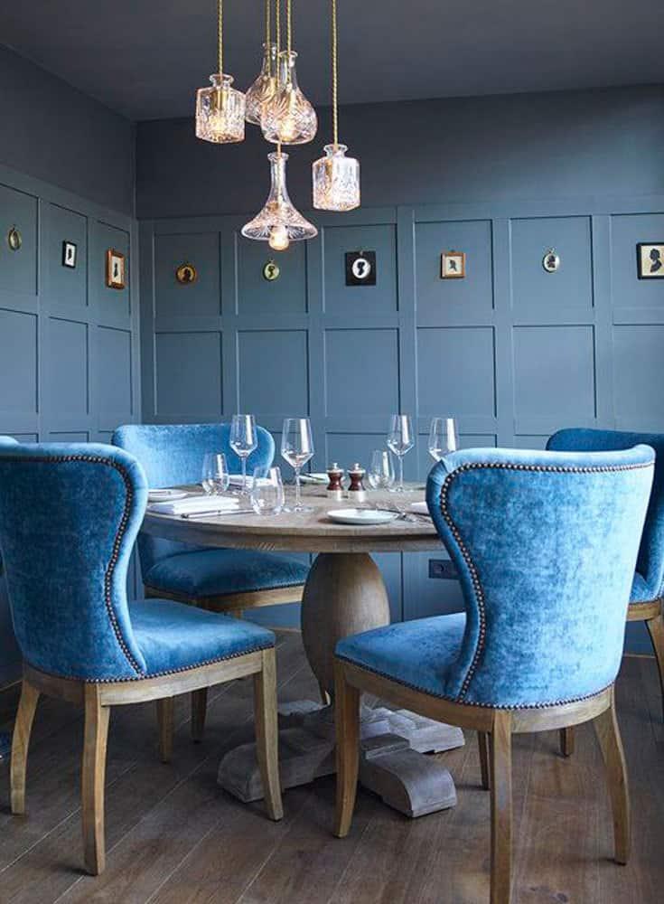 blue velvet chairs resource decor
