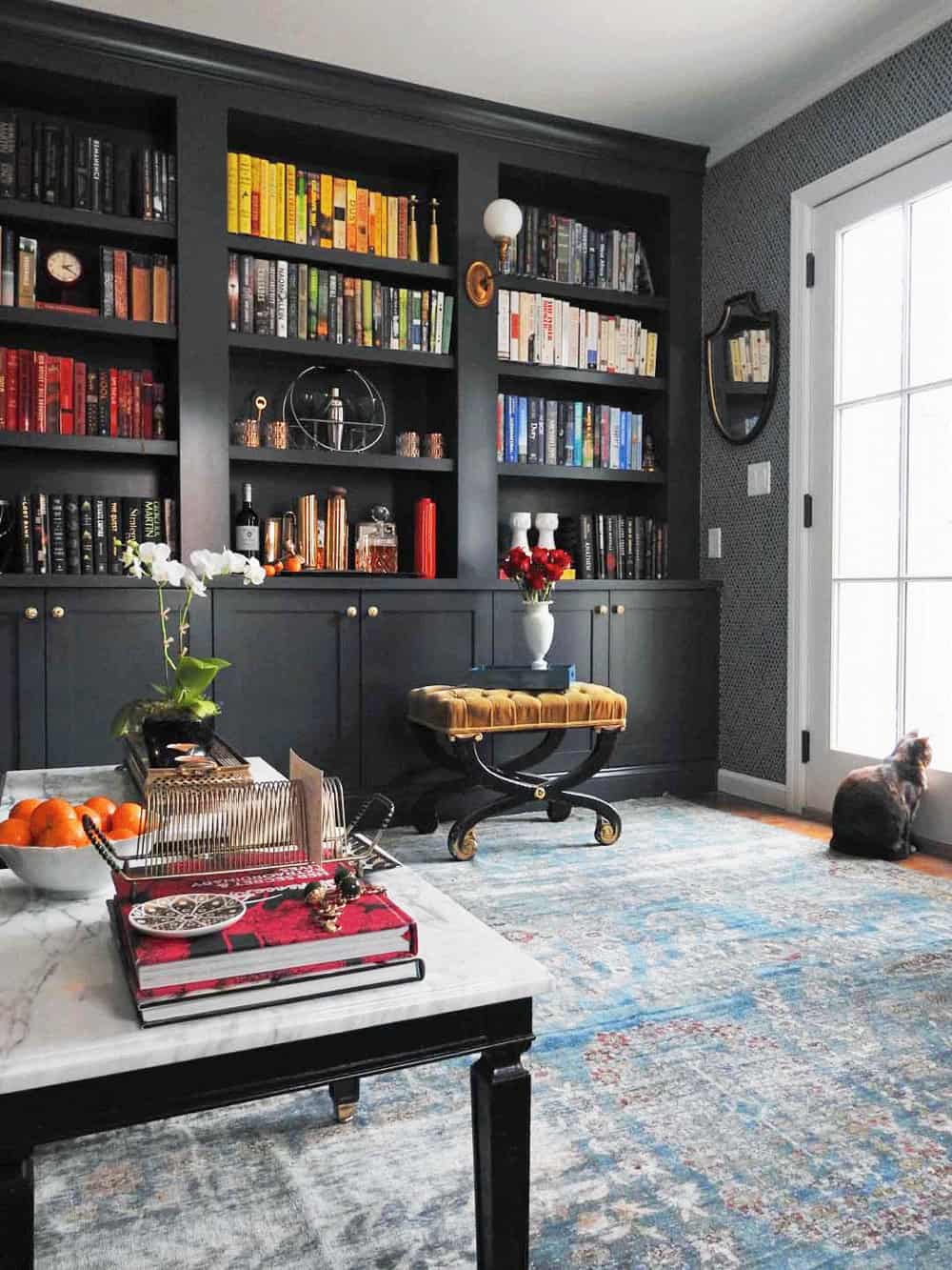 Hague Blue Bookcase One Room Challenge Centered By Design