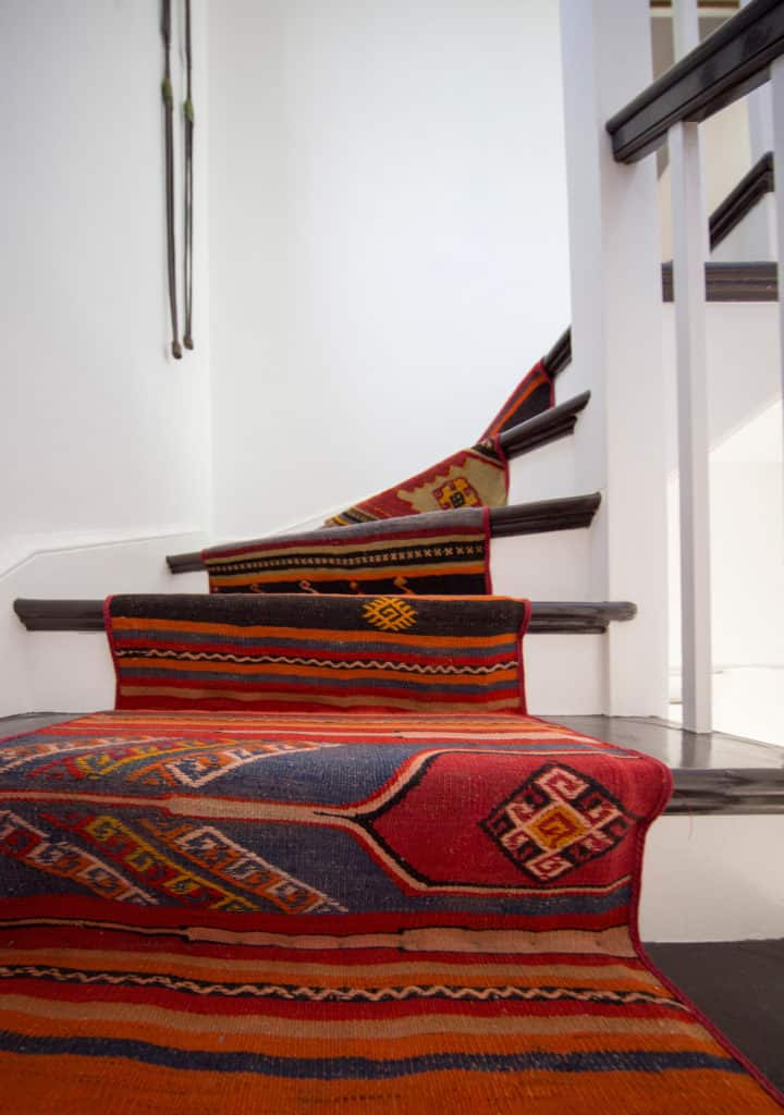 red stair runner