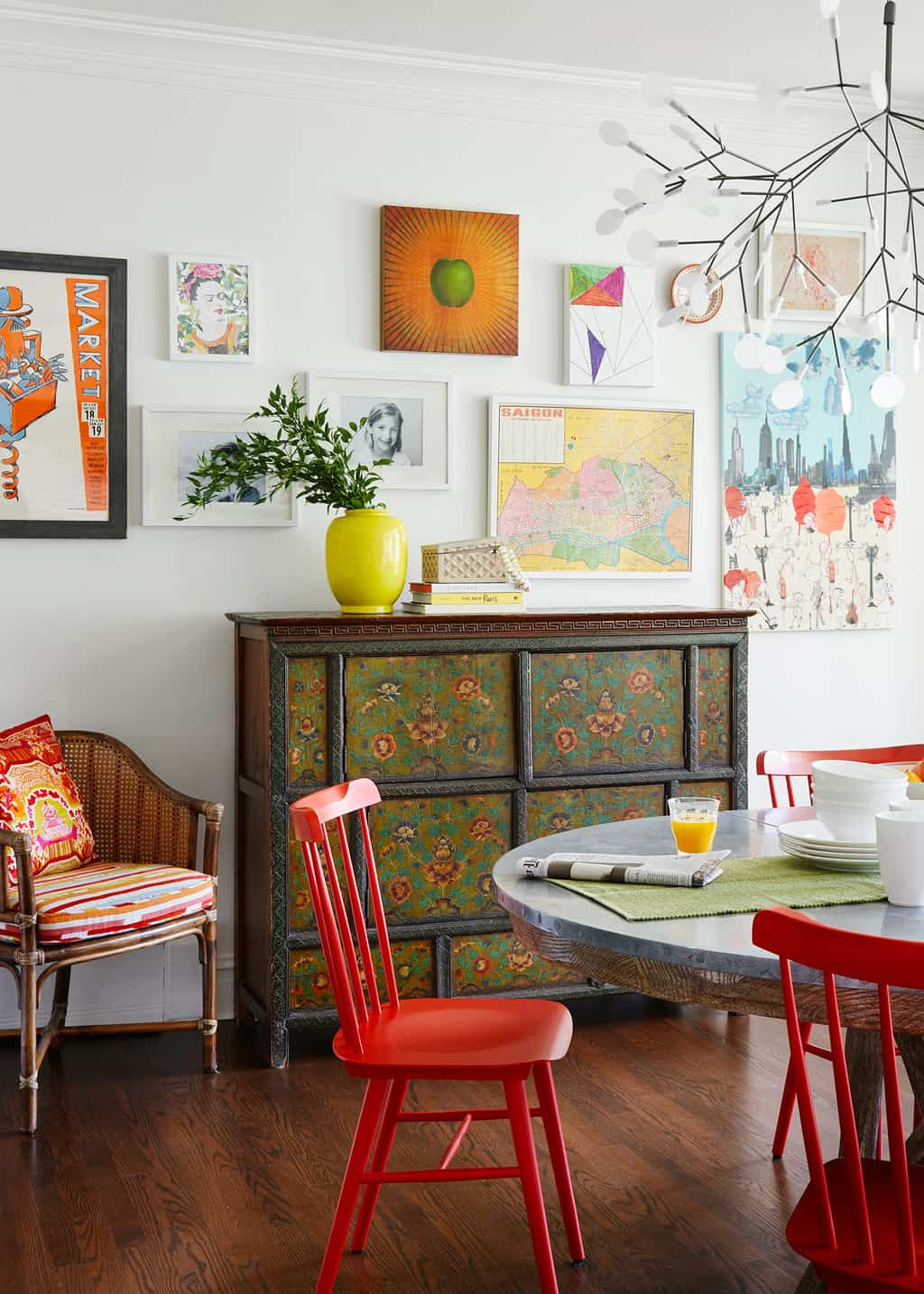 Using red in interior design color therapy from centered for Using red in interior design