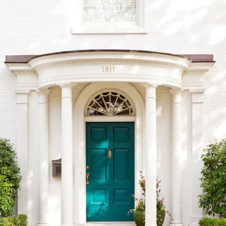 teal-front-door-white-house