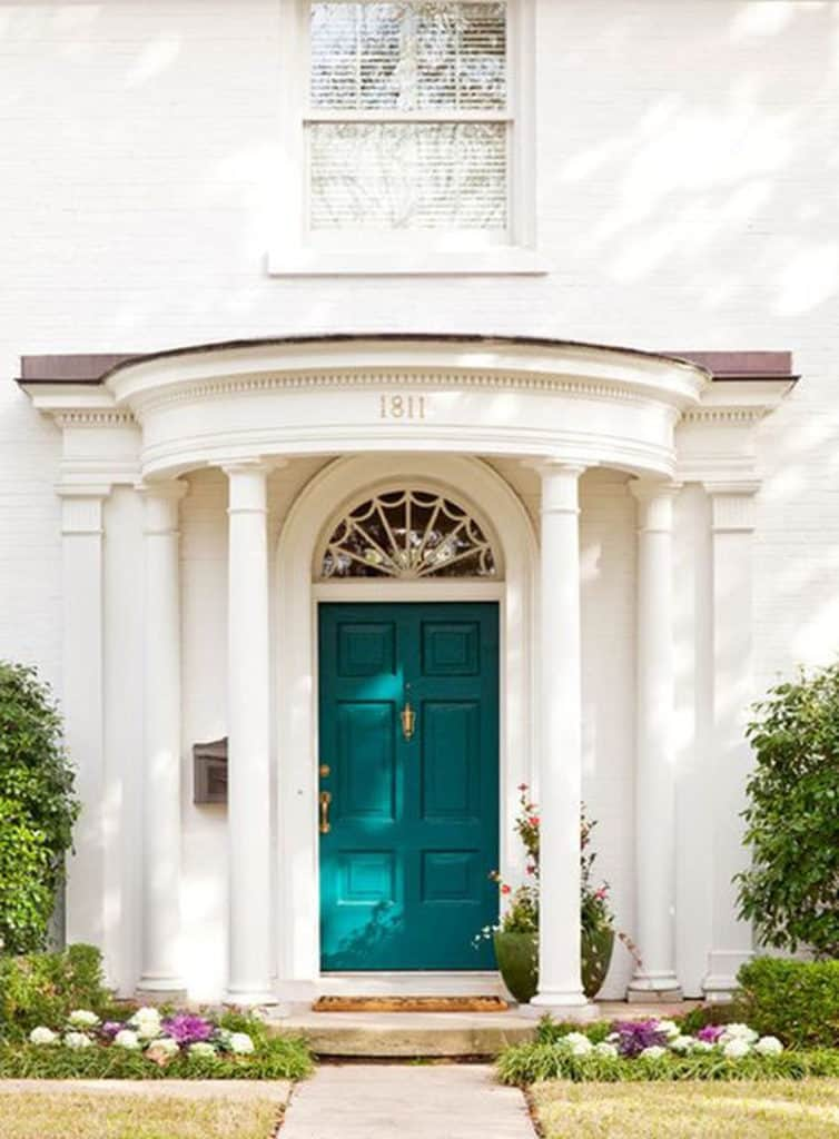 White House Door : Decorating with teal interior design inspiration for