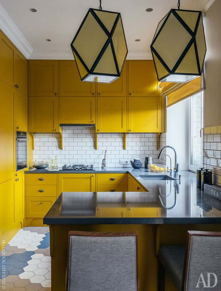 yellow-kitchen-cabinets