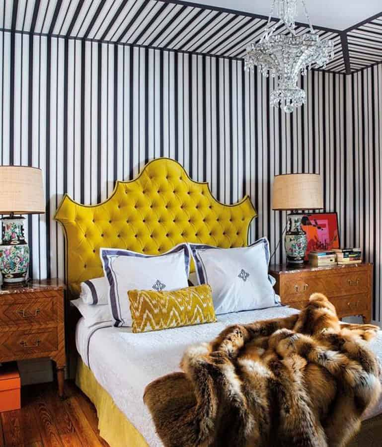yellow-upholstered-headboard