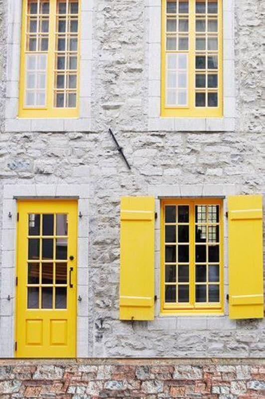 yellow-exterior-door-shutters