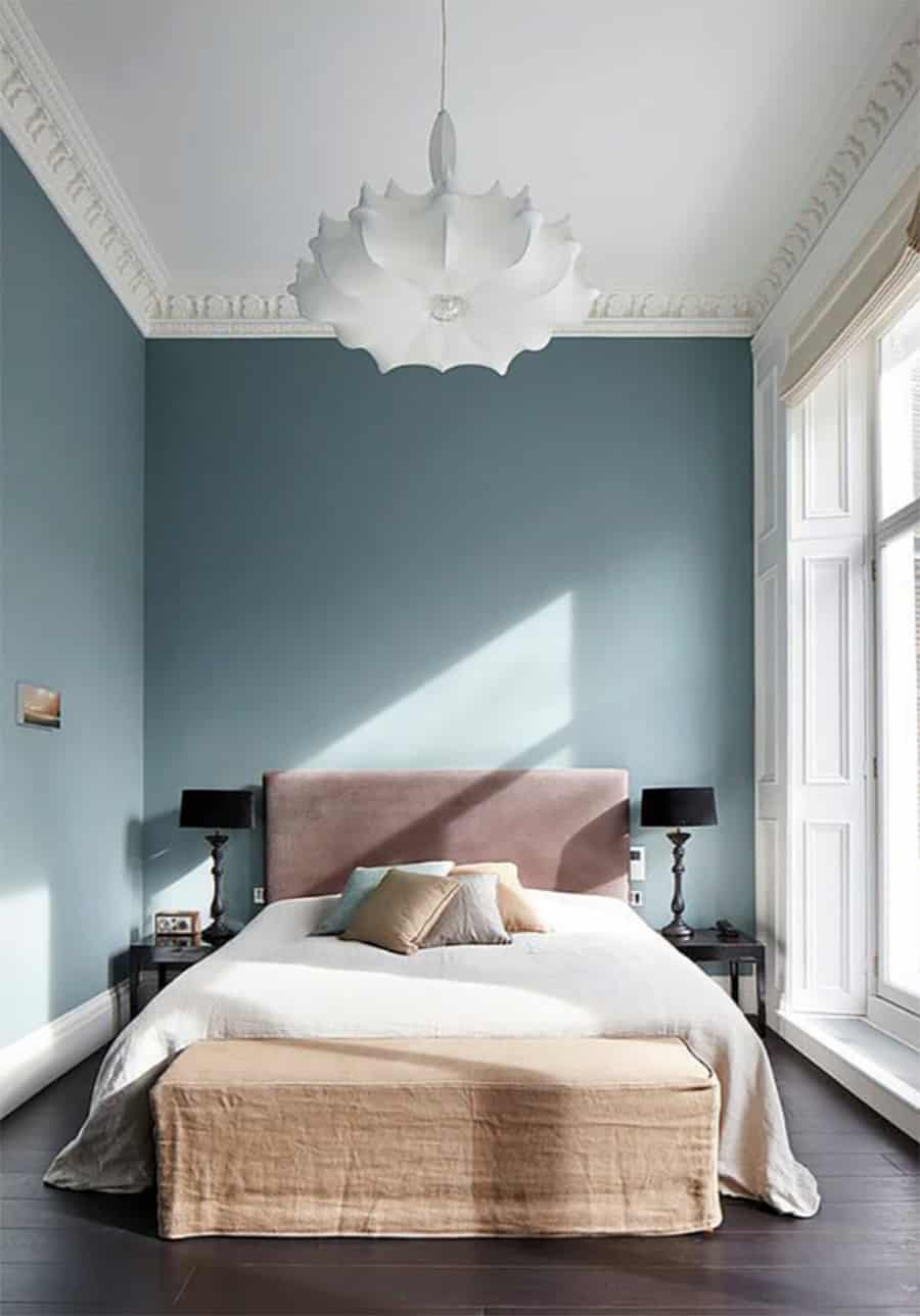 powder blue bedroom wall color