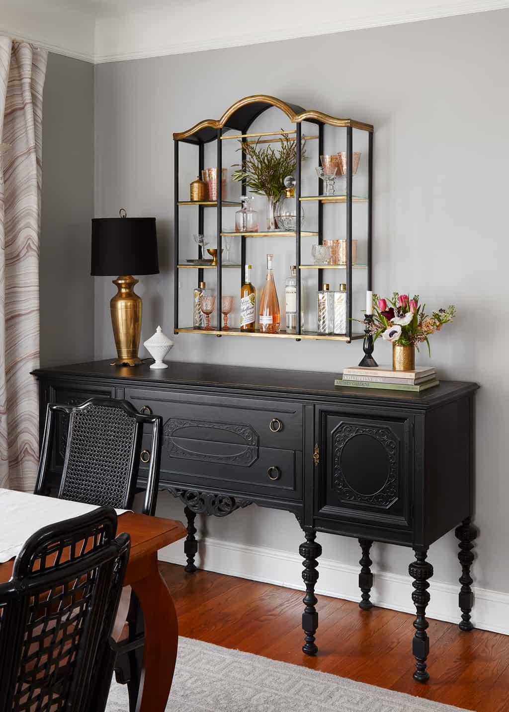 metropolitan-gray-benjamin-moore-dining-room-black-buffet