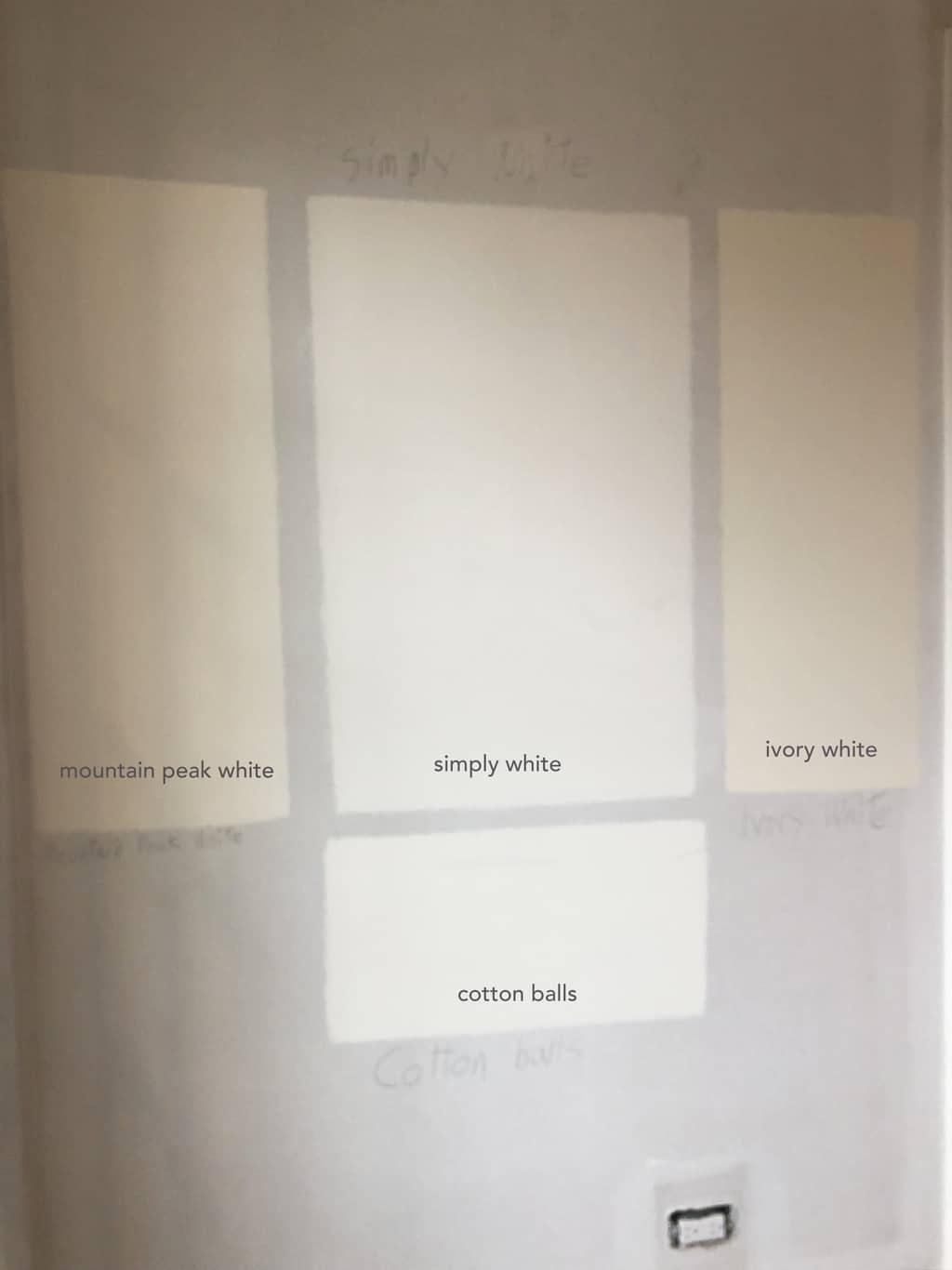 warm+white+paint+cotton+balls+simply+white
