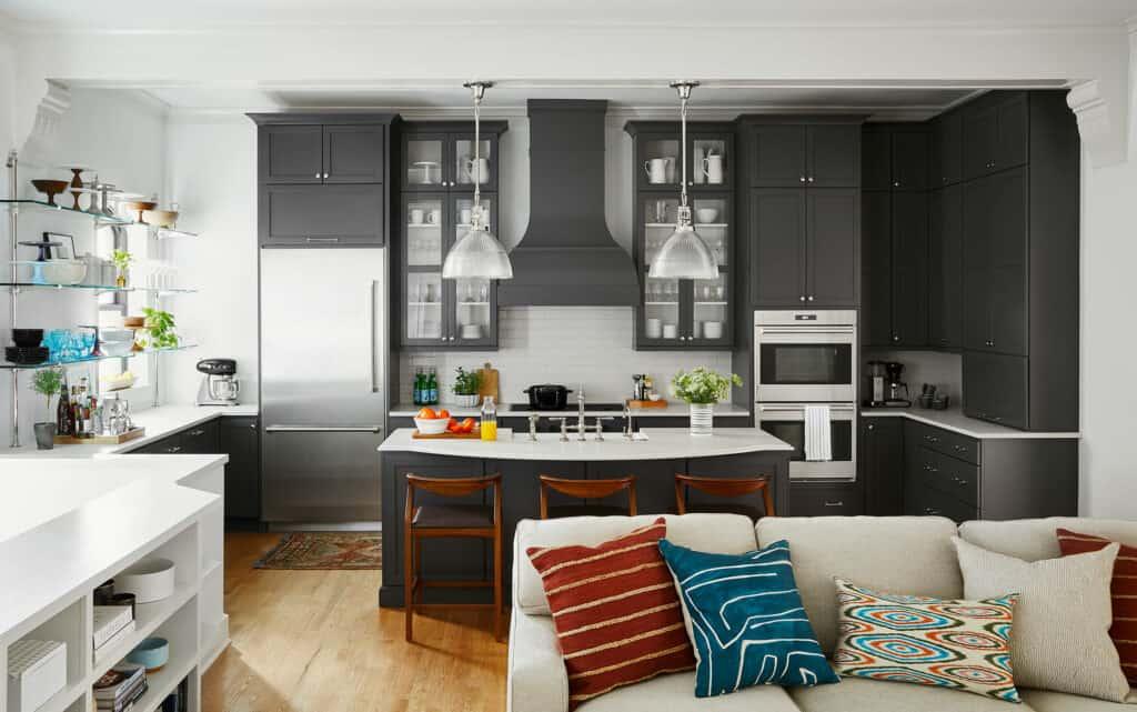 dark gray kitchen reveal