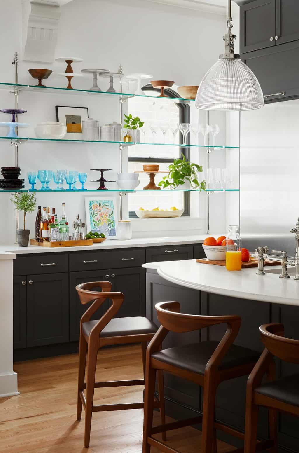 dark gray kitchen cabinets
