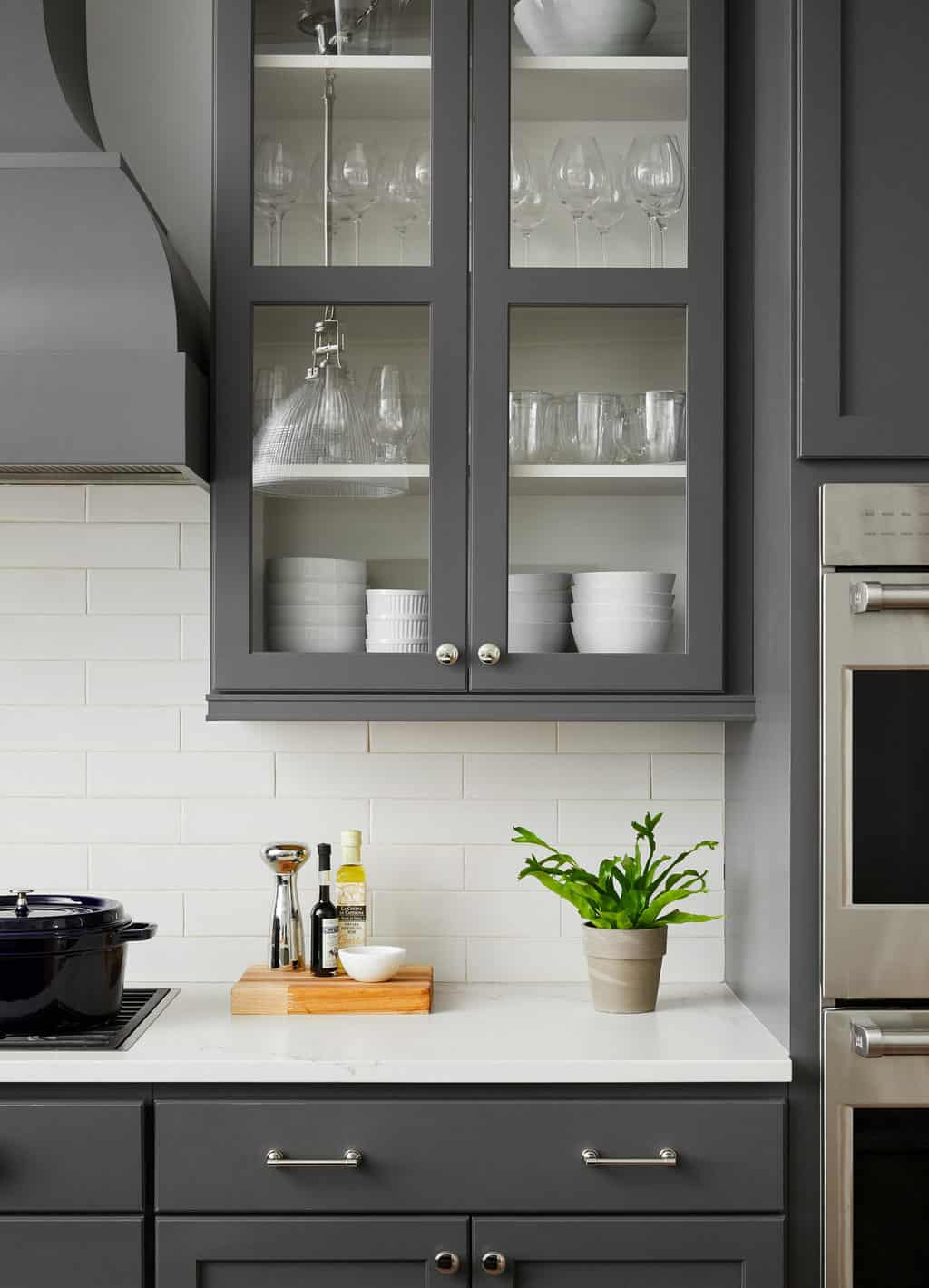 dark gray cabinet detail