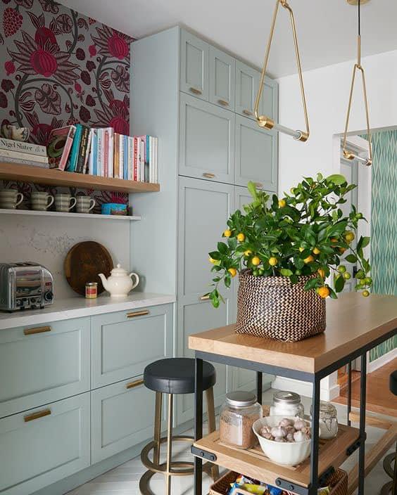 floral+wallpaper+kitchen