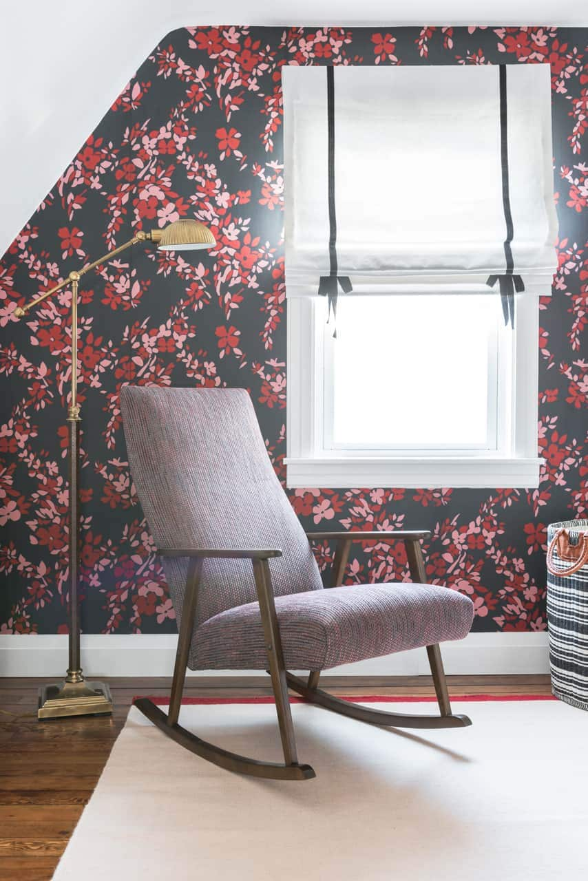 Centered by Design Portfolio, Farrow & Ball floral wallpaper